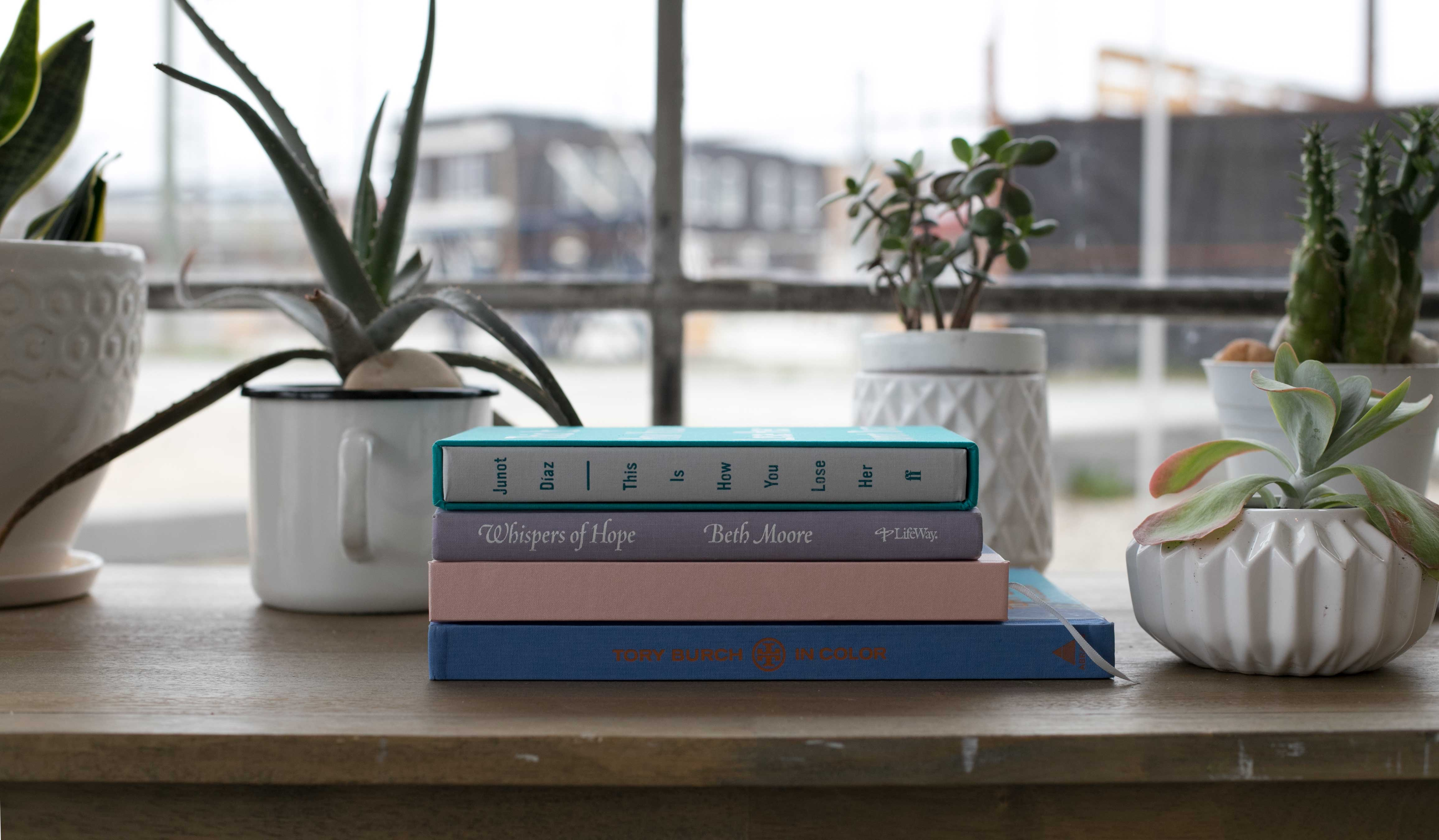 books-on-table
